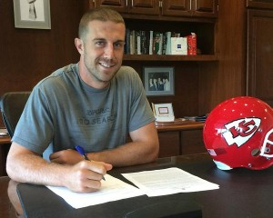 Entering his 10th year in the league, Alex Smith signs a 4-year $68 million dollar extension to remain with the Kansas City Chiefs for the foreseeable future.
