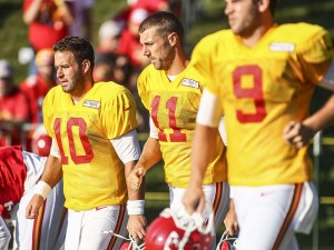 Chief's QB's about to finish up their 2nd training camp under Andy Reid in Kansas City.