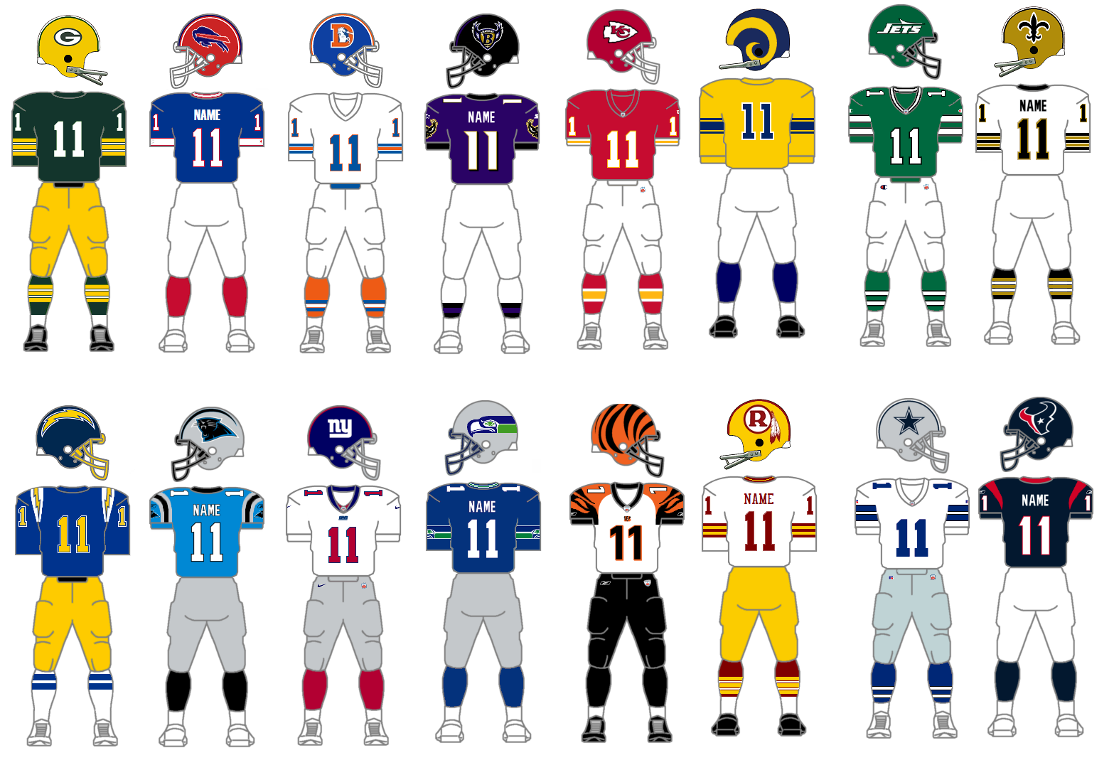 Top 10 NFL Uniforms of All-Time