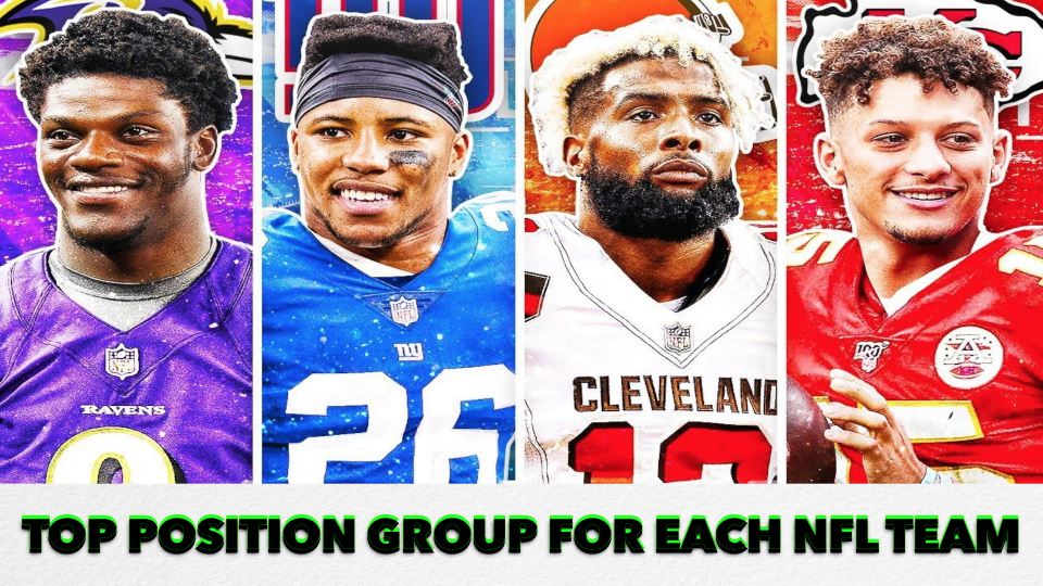 GASN Sports reveals the top position group for each NFL team