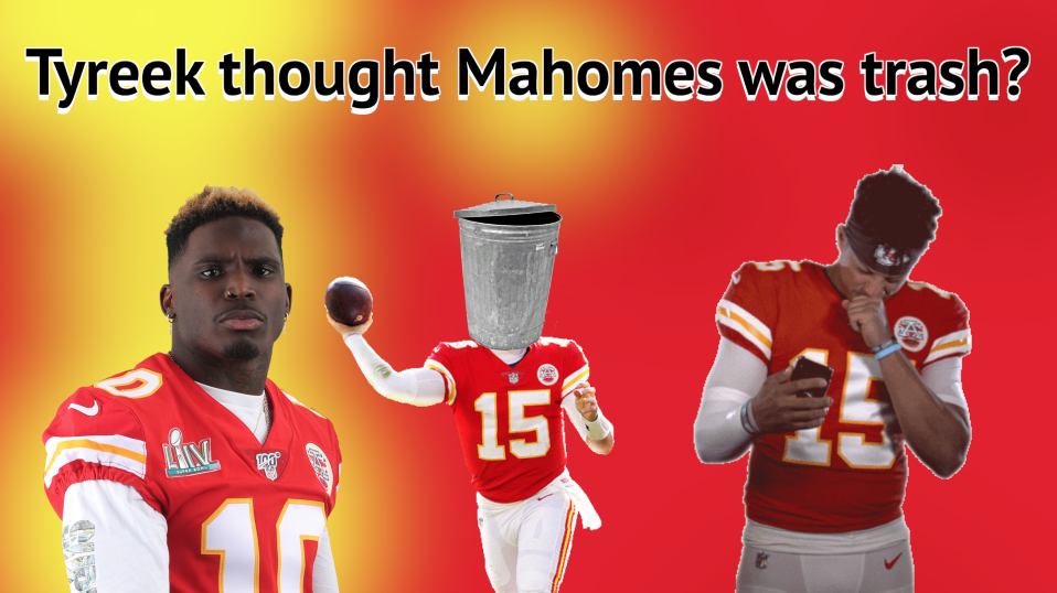 Tyreek's first impression was that Mahomes was trash & Patrick responds