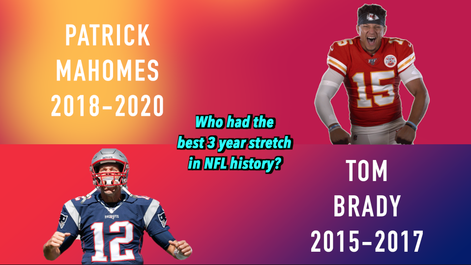 Mahomes vs. Brady: Who had the best three-year stretch in NFL history?