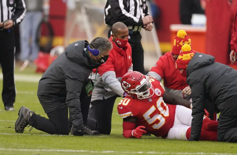 Chiefs' LB Willie Gay Injury Update & Game Status from Super Bowl LV